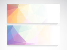 Website header or banner set. Website header or banner set with colorful abstract design for your business Royalty Free Stock Images
