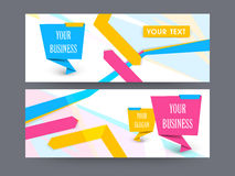 Website header or banner set. Creative colorful website header or banner set for business Royalty Free Stock Image