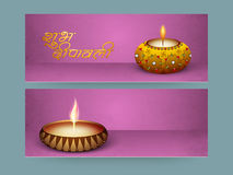 Website header or banner set for Diwali celebration. Stock Image