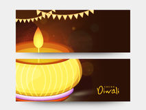 Website header or banner set for Diwali celebration. Stock Photo