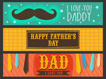 Website header or banner set for Father's Day. Stock Photos
