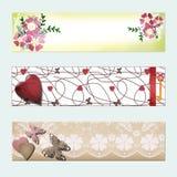 Website header or banner set. Floral Royalty Free Stock Photos