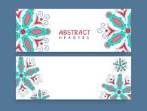 Website header or banner set with floral design. Royalty Free Stock Photo