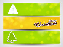 Website header or banner set for Merry Christmas celebration. Stock Images