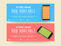 Website header or banner set for Mobile Store. Royalty Free Stock Image