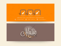 Website header or banner set for music store. Royalty Free Stock Photo
