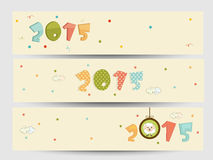 Website header or banner set for New Year celebration. Stock Photo
