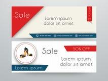 Website header or banner set for women footwear. Stock Image