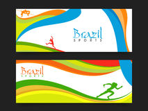 Website Header or Banner for Sports concept. Stock Photo