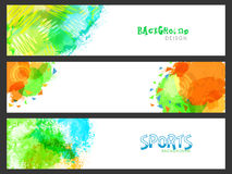 Website Header or Banner for Sports concept. Stock Photography