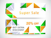 Website header or banner of super sale. Royalty Free Stock Photo
