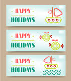 Website header, banner with text Happy Holidays Stock Images