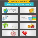 Website header or banner for World Health Day. Stock Images