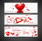 Website for header or banners set colorful valentines day Royalty Free Stock Images