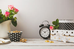 Website Header Design With Feminine Glamour Objects Stock Image