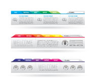 Website header with navigation menu. Colorfull website header with navigation menu Royalty Free Stock Photography