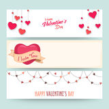 Website header for Valentine's Day celebration. Royalty Free Stock Photo