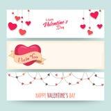 Website header for Valentine's Day celebration. Royalty Free Stock Photo
