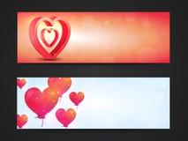 Website Header for Valentine`s Day celebration. Stock Images