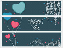 Website header for Valentine's Day. Stock Image