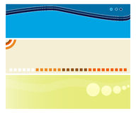Website headers. Set of three website headers useful also as banners.EPS file available Stock Images