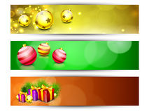 Website Headers or Banners for Happy New Year. And Merry Christmas. EPS 10 Stock Images