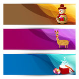 Website Headers or Banners set. Stock Image