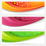 Website headers colorful banners set Royalty Free Stock Photos