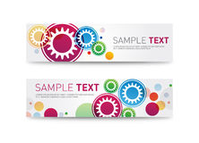 Website Headers or Promotion Banners Templates Stock Images
