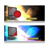 Website headers .Vector.Eps10 Stock Photos