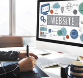 Website Homepage Global Communication Technology Concept Royalty Free Stock Images