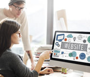 Website Homepage Global Communication Technology Concept. Website Homepage Global Communication Technology stock images