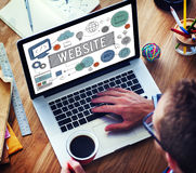 Website Homepage Global Communication Technology Concept Stock Photos