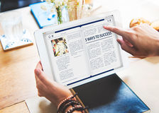Website-homepage-on-line-Internet-Artikel-Konzept stockbild