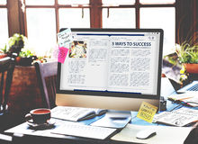 Website Homepage Online Internet Article Concept Royalty Free Stock Photos