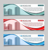 Website horizontal business banners vector template. Abstract banner design business concept design with healine for Stock Photo