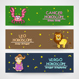 Website horoscope header or banner concept. Stock Images
