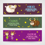 Website horoscope header or banner concept. Stock Photography
