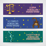 Website horoscope header or banner concept. Royalty Free Stock Photos