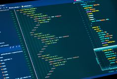 Free Website HTML And Css Code In The Editor. Web Design And Web Development Royalty Free Stock Image - 158638966