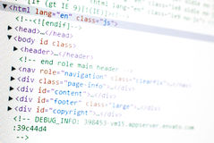 Website HTML Code Stock Photos