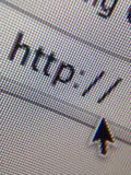 Website http address internet. A browser shows a web address start with http royalty free stock photo