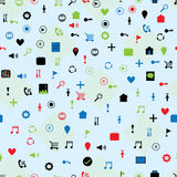 Website icon pattern Royalty Free Stock Image