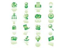 Website icon set. Green color  website icon set Stock Photo