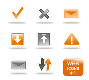Website icon set, part 3 Stock Images
