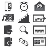 Website Icon set Royalty Free Stock Photos