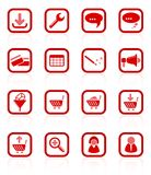 Website icons Royalty Free Stock Photography