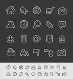 Website Icons // Black Line Series Stock Photography