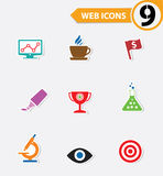9 Website icons. Colorful version Stock Image