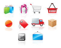 Website icons, illustration Stock Images